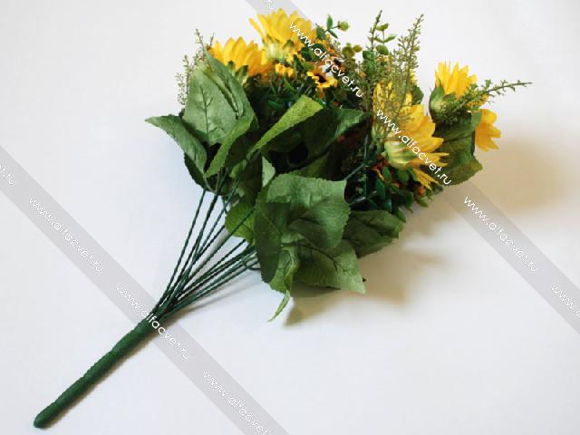 Заказ искусственных цветов подсолнухи г.казань загадочный подарок женщине рыбе